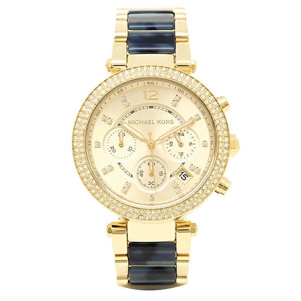 マイケルマイケルコース 時計 MICHAEL MICHAEL KORS MK6238 パーカー 腕時計 ウォッチ ホワイト/ゴールド