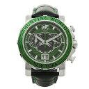 ハンティングワールド 腕時計 HUNTING WORLD HW913GR イリス クォーツ 黒革 スイス製 グリーン/シルバー/ブラック