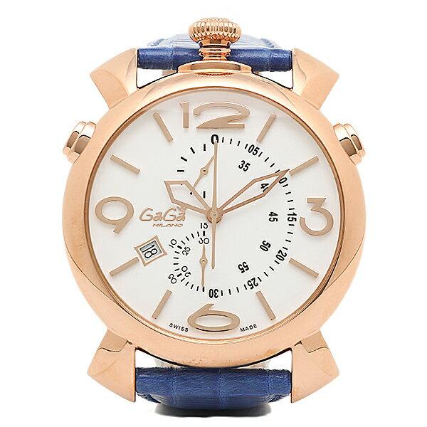 ガガミラノ 時計 メンズ GAGA MILANO 5098.01BT THINCHRONO シンクロノ 46MM 腕時計 ウォッチ ブルー/ゴールド/ホワイト