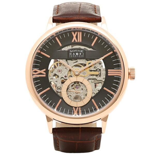 ゾンネ 時計 SONNE H014PG-BR HAORI ハオリ 自動巻き 腕時計 ウォッチ ブラウン/ゴールド ゾンネ SONNE×HAORI ハオリコラボ 腕時計 5,400円以上で送料無料