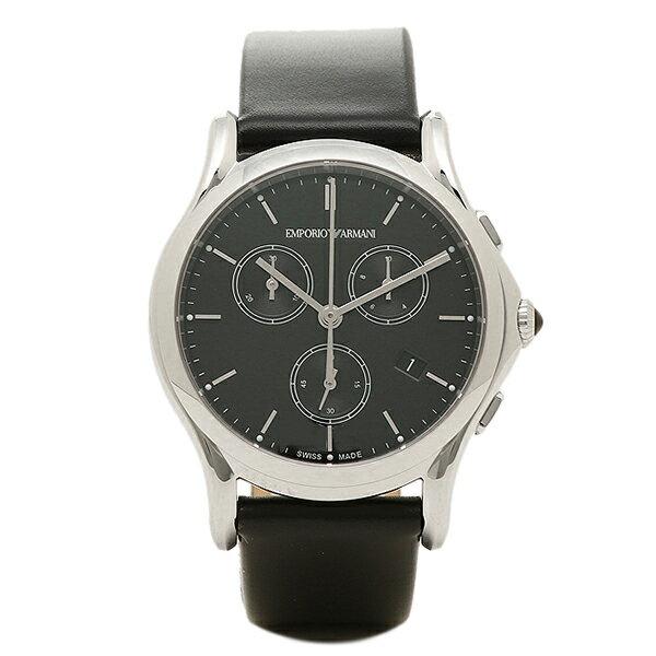 エンポリオアルマーニ 時計 メンズ EMPORIO ARMANI ARS6001 SWISS MADE スイスメイド クロノグラフ 腕時計 ウォッチ ブラック 【こうち】