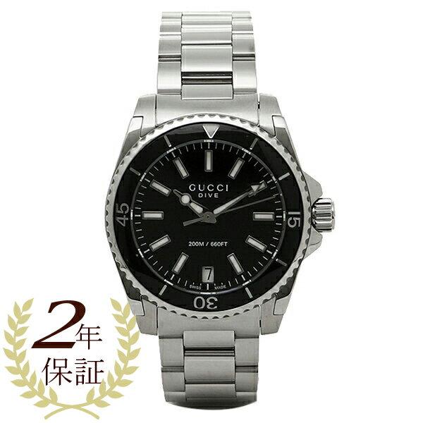 グッチ 時計 GUCCI YA136403 DIVE 腕時計 ウォッチ ブラック/シルバー 【10%OFFクーポン対象 5/12~5/19 09:59】