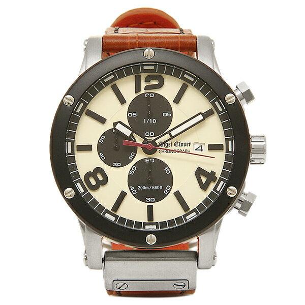 エンジェルクローバー 時計 ANGEL CLOVER EVC46BSB LB     腕時計 ウォッチ アイボリー/ブラウン ANGEL CLOVER エンジェルクローバー メンズ 腕時計 5,400円以上で送料無料【ブランド 腕時計 レディース】