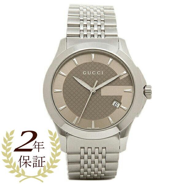 GUCCI グッチ YA126406 ミディアム バージョン Gタイムレス コレクション腕時計 メンズウォッチ シルバー/ブラウン/シルバー GUCCI グッチ GUCCI 時計 腕時計 GUCCI グッチ GUCCI 時計 腕時計