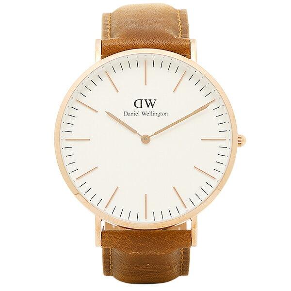 ダニエルウェリントン 時計 Daniel Wellington DW00100109 40mm CLASSIC クラシック メンズ腕時計 ウォッチ DURHAM ローズゴールド ダニエル・ウェリントン 腕時計 DanielWellington レザー