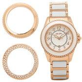 フォリフォリ 時計 FOLLI FOLLIE WF1R001BDW-XX チェンジャブルウォッチ 替えベセル付き レディース腕時計ウォッチ シルバー/ホワイト