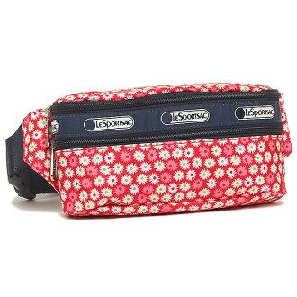 Lesportsac LESPORTSAC 5303 D842 雙郵編帶包肩袋 / 腰包旅行黛西紅