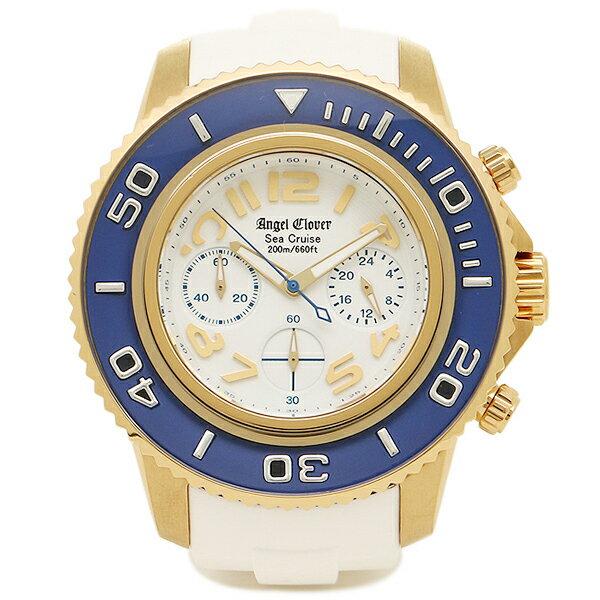 エンジェルクローバー 時計 ANGEL CLOVER SC47YBU-WH シークルーズ クォーツ メンズ腕時計 ウォッチ ホワイト/ブルー/ゴールド ANGEL CLOVER エンジェルクローバー