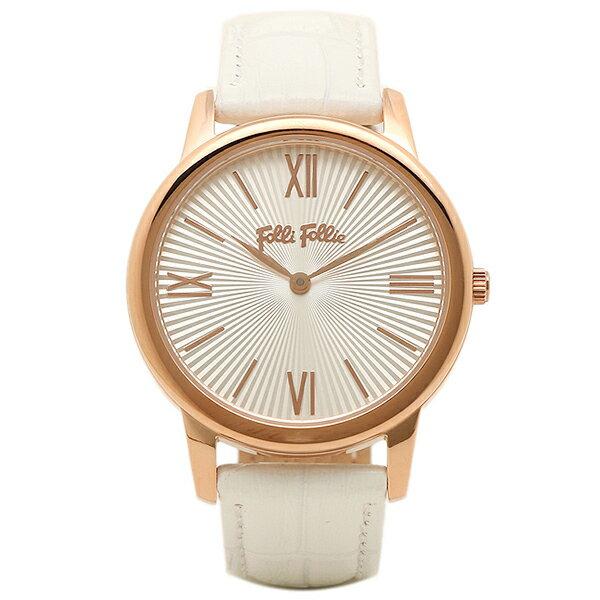 フォリフォリ 時計 FOLLI FOLLIE WF15R032SPWWH マッチポイント レディース腕時計ウォッチ シルバー/ピンクゴールド/ホワイト 貴い