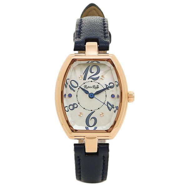 ルビンローザ 時計 Rubin Rosa R018PWHBL ソーラー レディース腕時計ウォッチ ホワイト/ブルー 【詳しい】