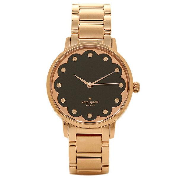 ケイトスペード 腕時計 KATE SPADE KSW1044 ブラック ローズゴールド 【10%OFFクーポン対象 5/12~5/19 09:59】