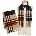 バーバリー マフラー BURBERRY 3945941 2040B M COLOUR BLOCK GIANT CHECK CASH カシミア100% 36×20...