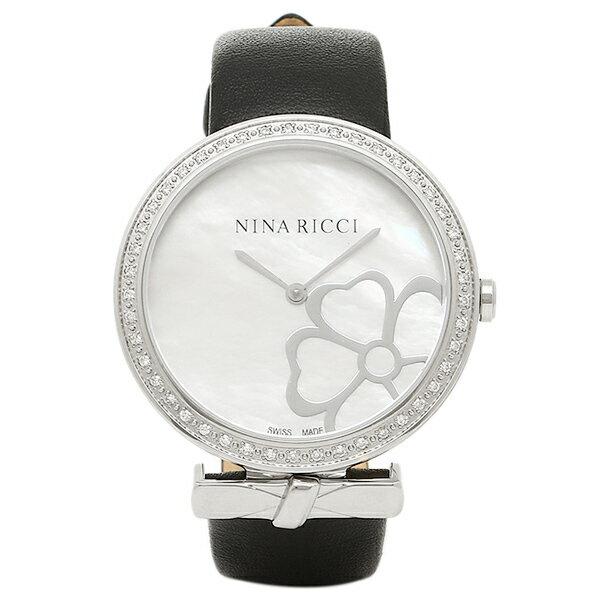 ニナリッチ 時計 NINA RICCI N043019 SM レディース腕時計ウォッチ ブラツク/シルバ- トレンディー