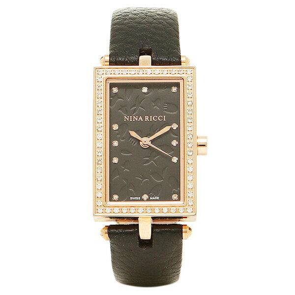 ニナリッチ 時計 NINA RICCI N047004SM レディース腕時計ウォッチ ブラツク/ピンクゴ-ルド NINA RICCI ニナリッチ