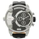 ディーゼル DIESEL 時計 腕時計 メンズ ディーゼル 腕時計 DIESEL DZ7256 デュアルタイム レザー ブラック メンズウォッチ デカフェイス