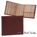 ポールスミス 財布 PAUL SMITH 4833 W761 D COIN WALLET メンズ 二つ折り財布 OXBLOOD