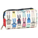 レスポートサック コスメポーチ LESPORTSAC 6511 P733 RECTANGULAR COSMETIC ポーチ COLORING BOOK RABBITS