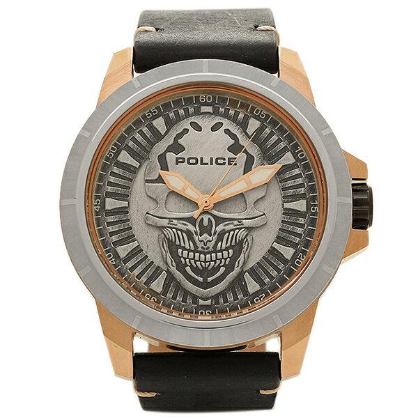 ポリス 時計 メンズ POLICE PL14385 JSRS/57 REAPER 5気圧防水 腕時計 ウォッチ BLACK/SILVER POLICE ポリス