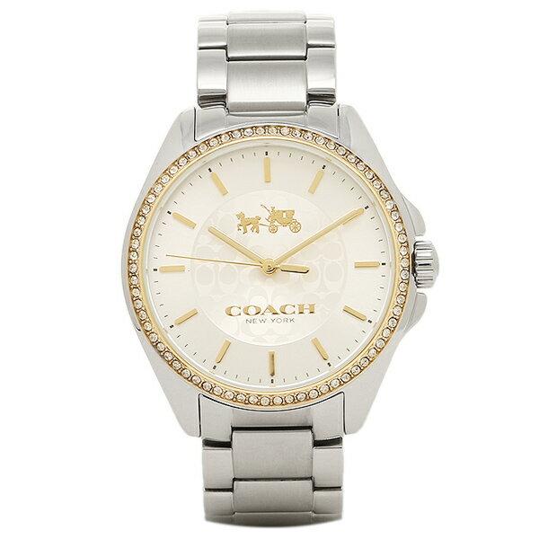 コーチ 時計 COACH 14502472 TRISTEN トリステン レディース腕時計ウォッチ シルバー/イエローゴールド