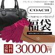 送料無料!豪華コーチのバッグ&財布&手袋3点セット!数量限定 COACH 福袋!