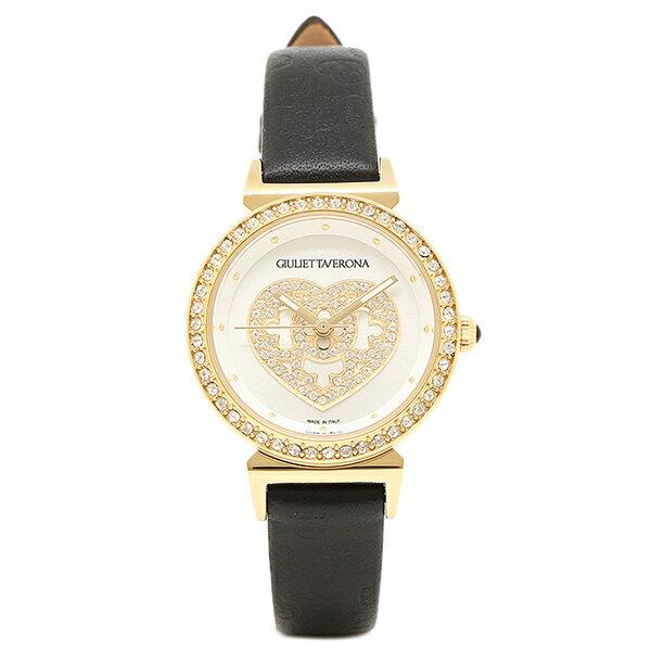 ジュリエッタヴェローナ 腕時計 GIULIETTAVERONA GV002YWHBK ホワイト イエローゴールド ブラック