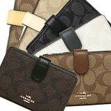 コーチ COACH 財布 アウトレット F54023 シグネチャー ミディアム コーナー ジップ ウォレット 二つ折り財布