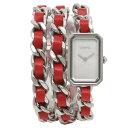 シャネル 腕時計 レディース プルミエール CHANEL H5313 シルバー レッド パール