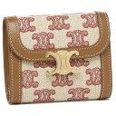 【返品OK】セリーヌ 三つ折り財布 トリオンフ スモールフラップ ウォレット ピンク レディース CELINE 10D782DAW 25VP