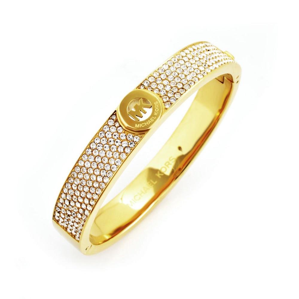 マイケルコース MICHAEL KORS MKJ3998710 Pave Gold-Tone Heritage Fulton Logo Bangle Bracelet パヴェ MKロゴ バングル ブレスレット【r】【新品・未使用・正規品】 【送料無料】2017
