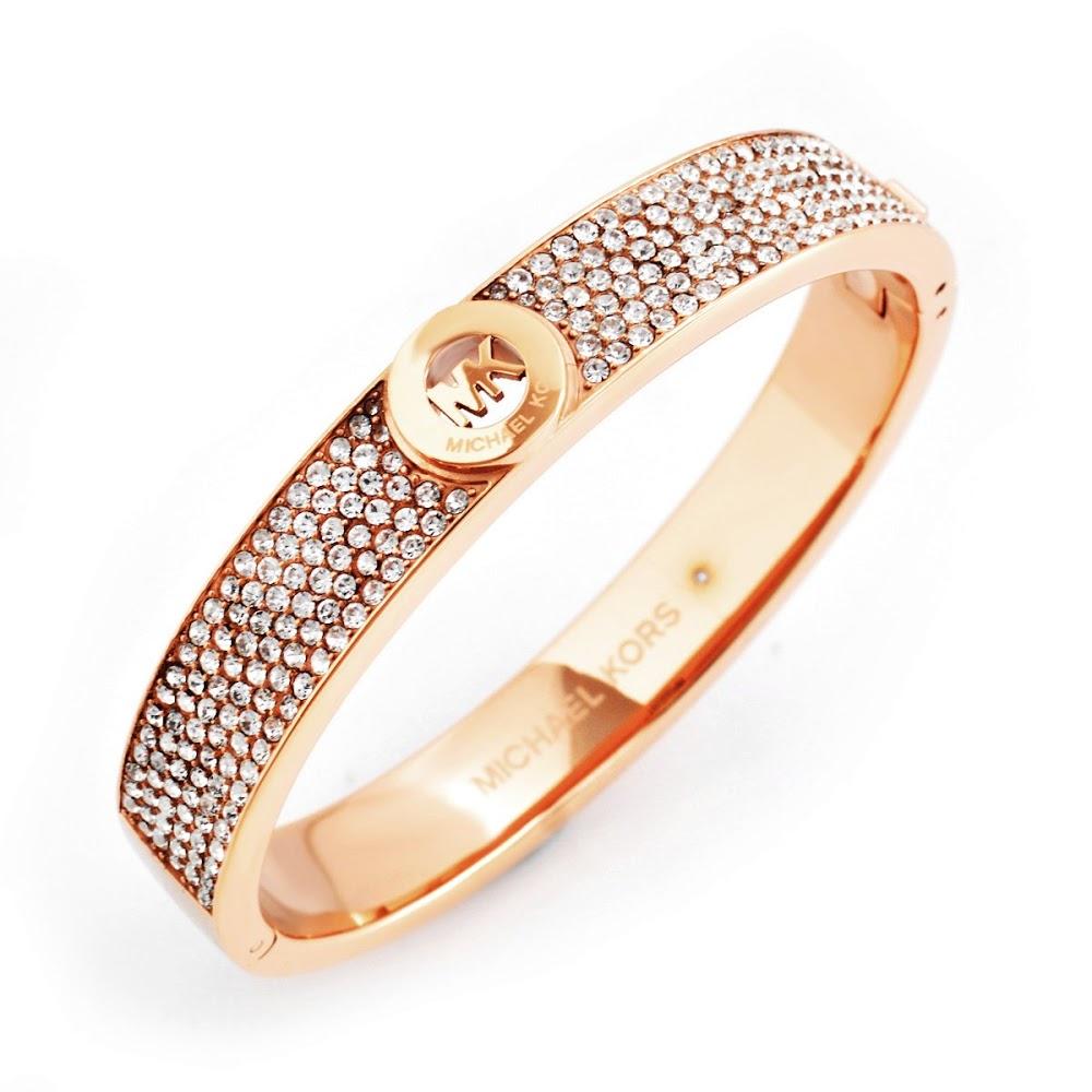 マイケルコース MICHAEL KORS MKJ4000791 Pave Rose Gold-Tone Heritage Fulton Logo Bangle Bracelet パヴェ MKロゴ バングル ブレスレット【r】【新品・未使用・正規品】 【送料無料】2017マッドラッシュ
