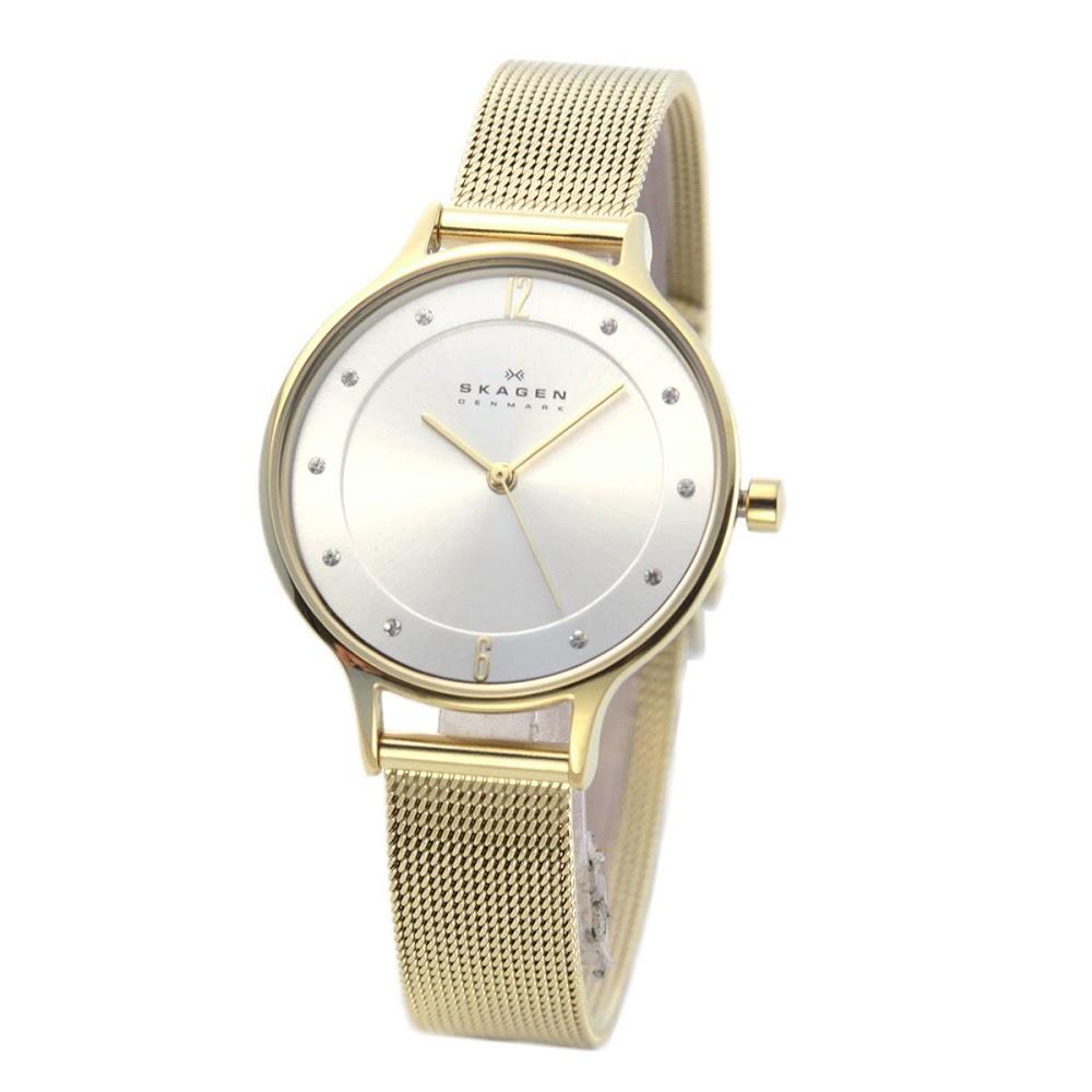 【ポイント2倍】スカーゲン SKAGEN SKW2150  レディス腕時計 ラインストーンインデックス メッシュストラップ【r】【新品/未使用/正規品】 【送料無料】