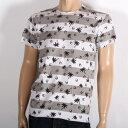 【サマーセール】LUCIEN PELLAT-FINET ルシアンペラフィネ 半袖Tシャツ ホワイト EVU2075 WHITE スカル ヘンプ 半T メンズ 【新品・未使用・正規品】【売れ筋】