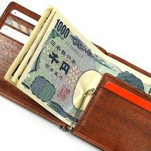 G-3:シャドー仕上げ小銭入れ&カードホルダー付札バサミ[5209]