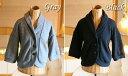 ハーフ袖が可愛い♪7分袖ラッセル編みニットジャケット(返品・交換・ギフト包装不可)