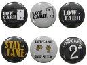 LOWCARD ( ローカード ) Assorted Pins 6Pack ( スケートボード スケボー SK8 ピンバッジ ローカード )
