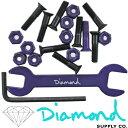 Diamond SUPPLY.CO ( ダイヤモンド サプライ ) Hella Tight Hardware Brandon Biebel (長さ:7/8インチ タイプ:六角)(スケートボード スケボー パーツ 工具 ビス ナット)