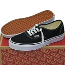 VANS ヴァンズ Classic Authentic Black ( 22.5