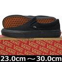 VANS ヴァンズ Classic Slip-On BLACK/BLACK ( 23-30cm )【VANS ヴァンズ ばんず スリ