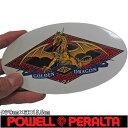 POWELL PERALTA ( パウエル ペラルタ ) Golden Dragon Diamond Sticker (1カラー)(タテ9cm×ヨコ15.5cm) ( スケートボード スケボー ステッカー )