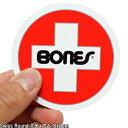 Bones ボーンズ Bearings Swiss Round ステッカー ミディアム 8x8cm スケートボード スケボー シール