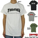 クリックポスト対応スラッシャー THRASHER tシャツ 半袖 tシャツ Skate Mag S/S Tee ホワイト ブラック グレー アーミーグリーン スケートマガジン スケートボード スケボー