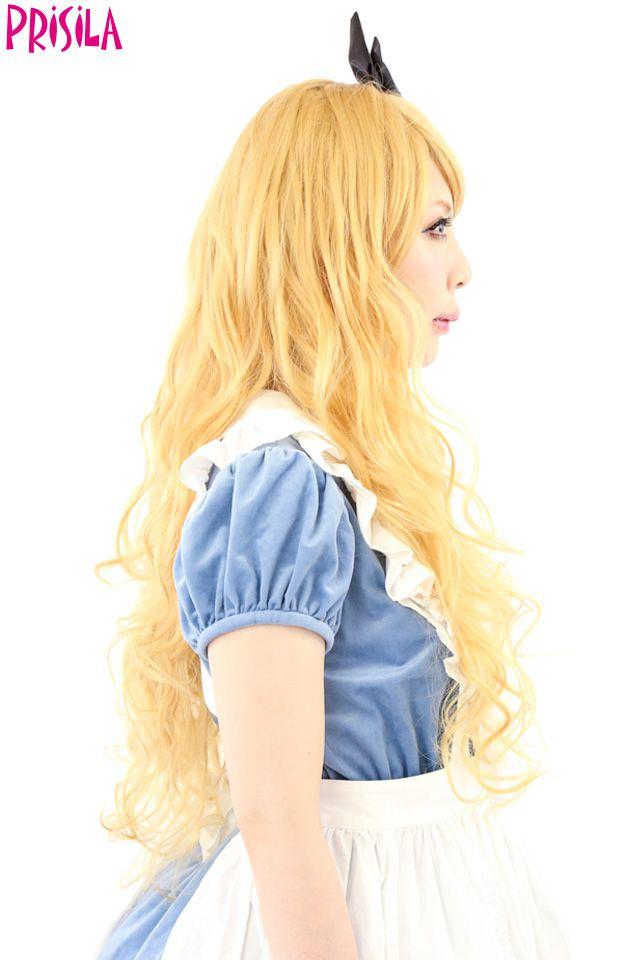 耐熱ロングカール70cm CTA-006【送料無料】フルウィッグ PRISILA プリシラ つけ毛 かつら ウィッグ ウィック ウイッグ コスプレ 仮装 全カツラ:カラコン・ウィッグ@キュティア