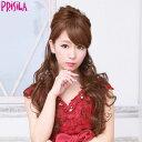 耐熱ハーフウィッグ【姫盛りロングカール J-808】(PRISILA プリシラ)ウィッグ ポイント つけ毛 かつら 耐熱