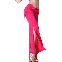 メール便 送料無料 スカート付きパンツ ベリーダンスズボン スリット ダンスパンツ ベリーダンスボトムス 練習着 ベリーダンスウェア レッスンウェア9色入荷DP019H