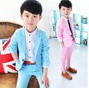 子供スーツセット [ジャケット/長ズボン]子供スーツ  ベビ...