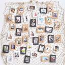 写真 写真立て 写真掛け 壁掛け 壁飾り 飾り 飾り漁網 DIY 写真スタンド 記念 壁デコレーション 写真 クリップ、釘付き 多機能性地中海風 小道具 kz095z