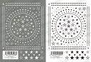 ツメキラ(TSUMEKIRA) ネイルシール【メンズスタイル スター (ホワイト/ブラック)】◆星 スター ライン ポップ POP ネイルアート