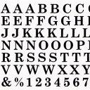 Amaily (アメイリー) ネイルシール 【ABC 黒】【メール便対応】◆シンプル!・・・なのに超オシャレ!なネイルシール大文字 ナンバ..