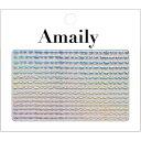 Amaily ネイルシール No.8−13 波ライン (OS...