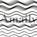 Amaily アメイリー No.5−23 ウェーブ 黒メール...